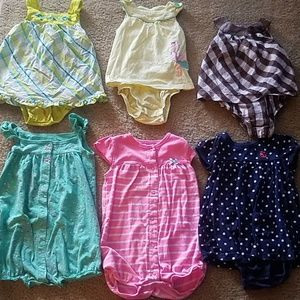 6 girls rompers & dresses size 24 months